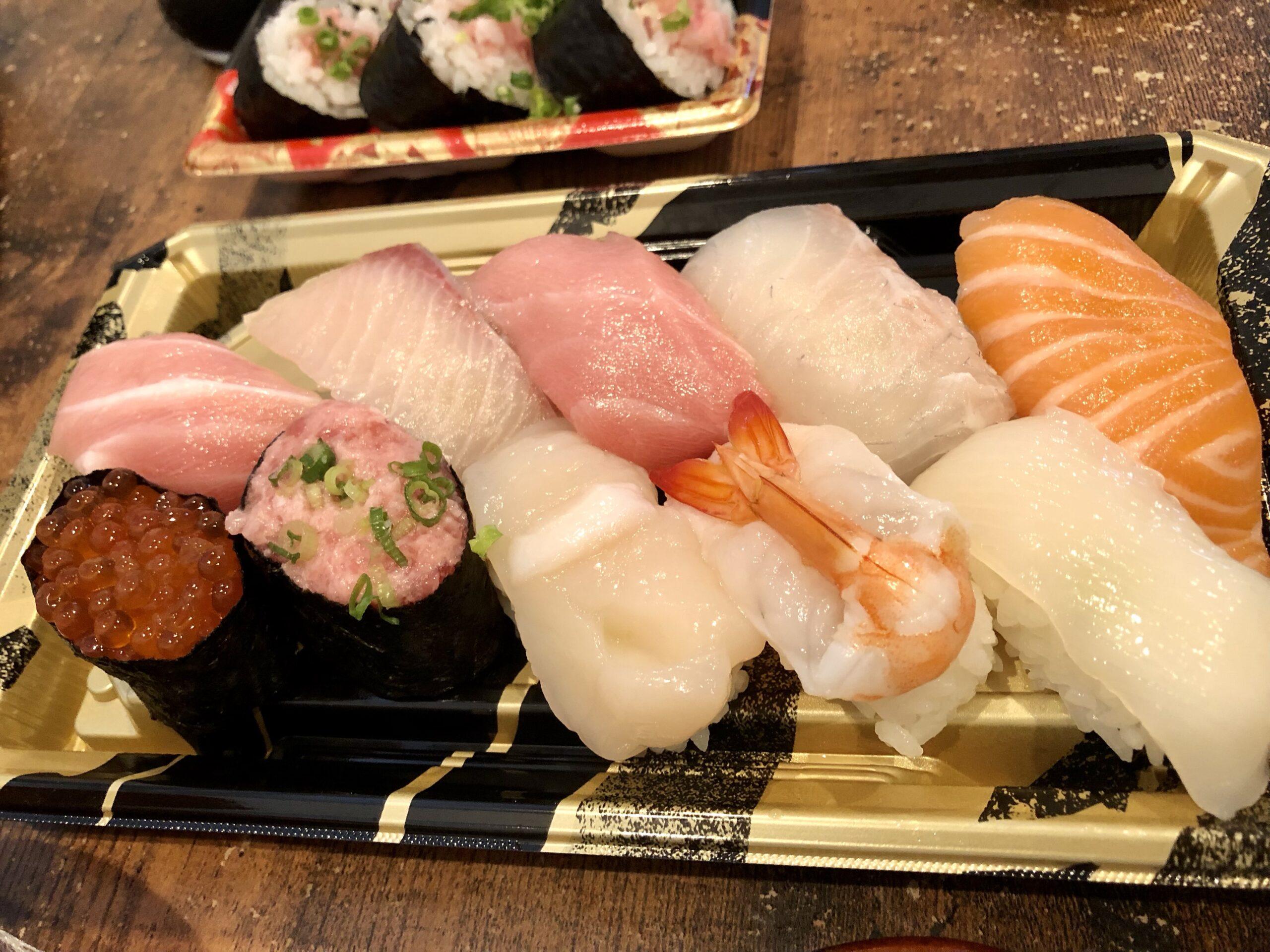 角上にぎり寿司10貫1,080円